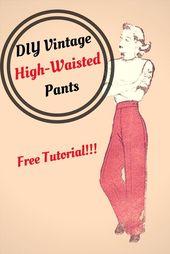 DIY Vintage High-Waisted Pants