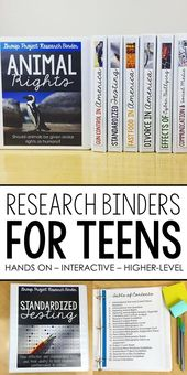 Analysis Binder Tasks: 170 pages of Widespread Core Aligned supplies