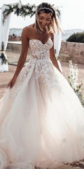 24 Gorgeous Sweetheart Wedding Dresses For Brides