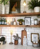 Küche Ideen Einrichtung Landhaus mit Holz. #Deko …