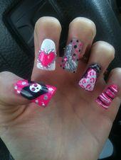 ! rose, noir et blanc nail art!   – Makeup, hair, nails!!! <3