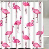 Funky Flamingo Duschvorhang   – Earth & Glass
