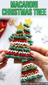 Weihnachtsbaum-Teigwaren und Makkaroni-Handwerk