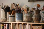 coole Vasen für Stifte und Pinsel – #Coole #Fur #…