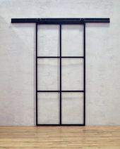 LOFT FRENCH MOD 01- sliding door complete set steel glass industrial loft market