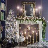 Photo of Ich liebe diese lila und goldenen Weihnachtsdekorationen! Der Baum ist wunderschön und der …, #Christ …