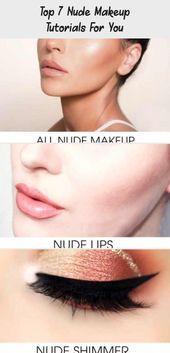 Top 7 Nude Makeup Tutorials For You  Matte Eyes Makeup Tutorial #eyesmakeup Nude…