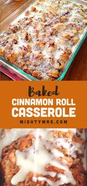 Straightforward Cinnamon Roll Casserole