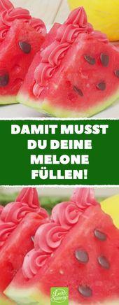 ¡Con eso tienes que llenar tu melón! Hecho en casa: deliciosa sandía fría   – Rezepte