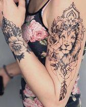Tattoo Ideen, Tattoo für Jungs, geometrisches Tattoo, Oberschenkeltattoo, Tattoo Old School, tat … –