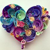 Liebe ist rund um Quilling Kunst – einzigartiges Geschenk für Jubiläum, Papier Jahrestag, Verlobung/Hochzeitsgeschenk, beste Freundin Geschenk, Weihnachtsgeschenk