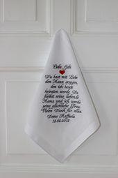 Dieses wundervoll bestickte Taschentuch für die Schwiegermutter der Braut rühr… – Hochzeit