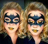 10 + Halloween Batman Make-up Ideen für Mädchen & Frauen 2018 10-Halloween Batman Make-up Ideen-für-Mädchen-Frauen-2017-7