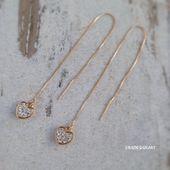 Herz Ohrringe 18k vergoldet lange Einfädler Kette Zirkonia Ohrringe Jubiläum Valentinstag Geschenk romantische Liebesgeschenke für ihre Frauen   – Products