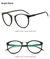 BOYEDA Brand Vintage Round Eyeglasses Frame New Fashion Female Grade Glasses for Women Myopia Eye Glasses Frame Optical Glasses – Eyewear Frames