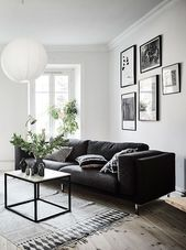 Living room furniture black