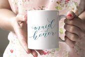 Maid of Honor Mug – Bridal Party Gift – More Colors – Wedding