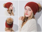 Xthree Multipurpose Winter Women's Hat With Raccoon Pom Pom Beanies Hat Cashmere Knitted Hat Keep Warm Gorro Wool Hat Brand – Fashion 2019/2020
