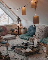 Raumdekoration Wohnakzente böhmische Häuser Vintage-Dekor helle und luftige #h… – Zimmerdekoration