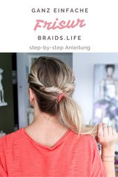 Very simple ponytail hairstyle with instructions