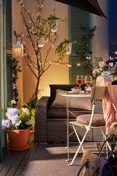 Die Chill-out-Zone auf dem Balkon