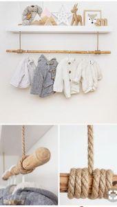 Eine Idee für den Kindergarten ohne Kleiderschrank – #Babroom #Baby #Bedroom