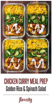 This scrumptious and nutritious meal prep options juicy curry spiced hen brea…