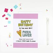 Happy Birthday Pizza Lover