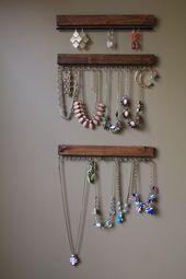 Jewelry Display Jewelry Tree Mounted by MySideOfTheGarage