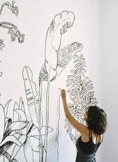 27 Wandmalerei Ideen für Ihre einzigartigen Wände! – Archzine.net – WOHNEN