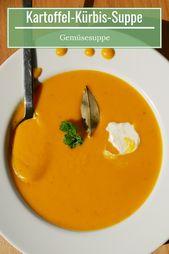 Potato and pumpkin soup