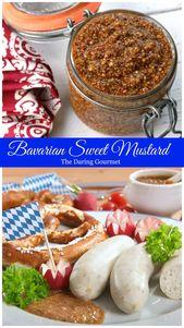Traditional Bavarian Sweet Mustard (Bayerischer Süßer Senf) – #Bavarian #Bayer…