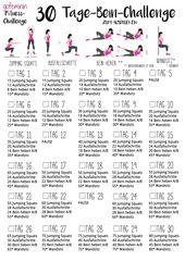 For beautiful, tight legs: The 30-day Leg Challenge!