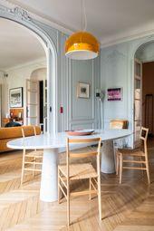 Table de salle à manger en marbre ovale
