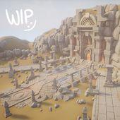 Desert Temple – WIP01, Tobias Koepp on ArtStation …