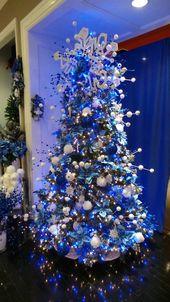 Photo of 65 Blue Christmas Tree Ideen, um Ihrem geschmückten Zuhause eine ruhige Atmosphäre zu verleihen