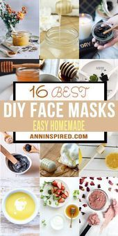 16 simple homemade DIY face mask recipes that will enchant your skin! In the… …