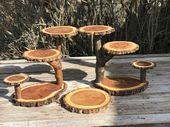 2 Cascading Tier steht Holz rustikale Kuchen Cupcake Stand Hochzeit Party Dusche Holz …