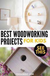 Einfache Holzbearbeitungsprojekte für Kinder #bondingwithchild Einfache Holzbea…
