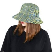 Bucket hat- women's hat-formal hat- hand painted original design- premium co… – women hat