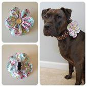 Artículos similares a Accesorio de flores de primavera para collares de mascotas en Etsy   – crochet