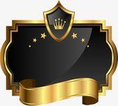 شارة الدرع الذهبي درع قصاصات فنية ذهبي درع Png وملف Psd للتحميل مجانا Barber Logo Creative Poster Design Cafe Logo Design