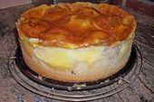 Apfelkuchen mit Sahne – Pudding – Guss