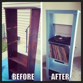 Pin By Jordan Ford On Apartment Decor Ideas Record Player Storage Record Player Stand Record Player Stand Diy