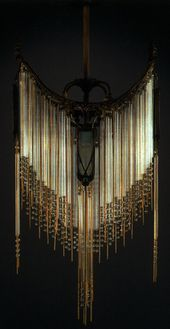 Hector Guimard Chandelier C 1910 Bronze Mounts With Glass Panels Rods And Beads Drop 787 5cm Lighting Pinterest Exótico Para El Hogar Y