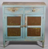 East Tn Blue Painted Pie Safe