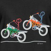 Motorrad stickman rennsieger sport | Frauen Premium T-Shirt – #woman …   – Motorrad Frauen Lustig