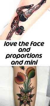Liebe das Gesicht und Proportionen und Mini-Tattoos die besten traditionellen Tattoos #tattooinspiration #ta 5