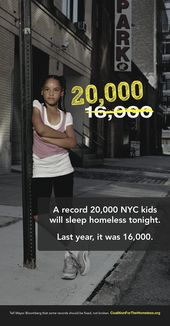 Coalition For The Homeless Nyc With Kids Mayor Bloomberg Homeless