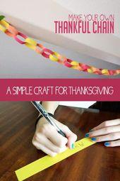 Bilden Sie Ihre eigene DIY dankbare Kette mit Ihrer Familie. Es ist ein Spaß, Thanksgiving und … – lesson ideas for special needs